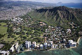 Aerial view of Waikiki Beach and Honolulu, Hawaii, Highsmith.jpg