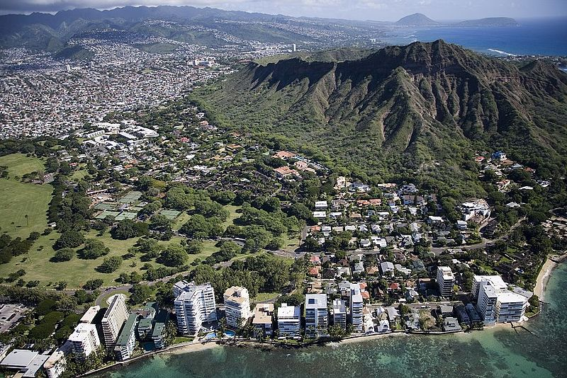 Waikiki beach and Honolulu.
