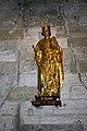 Aigues Mortes-Église Notre-Dame des Sablons-Statue de Saint louis-20110824.jpg