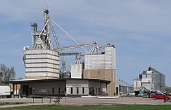 Farmers Ranchers Cooperative feed mill in Ainsworth