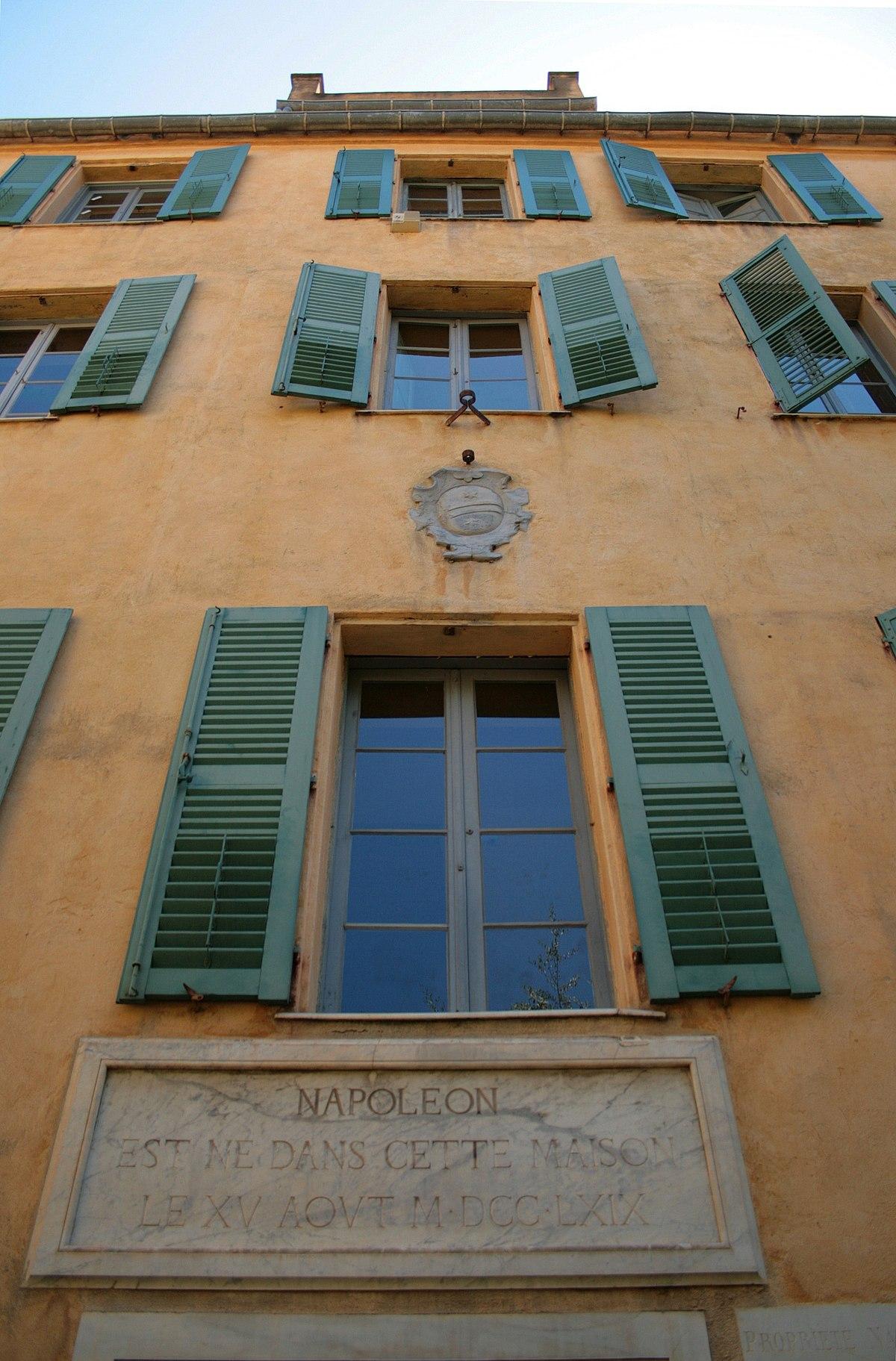 Mus e de la maison bonaparte wikip dia - Cadre regle de la maison ...