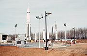 Alabama Space and Rocket Center Rocket Garden 1970