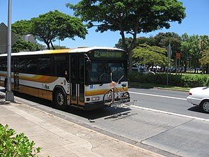TheBus (Honolulu) - TheBus on Ala Moana Blvd, Honolulu, Hawaii.