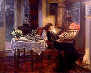 Albert Chevallier Tayler - The Quiet Hour 1913.jpg