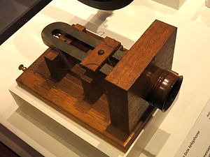 Telecommunications engineering - Alexander Graham Bell's big box telephone, 1876, one of the first commercially available telephones - National Museum of American History