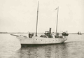Alexander Kircher and his wife aboard his Austrian steam yacht Romana c.1902.png