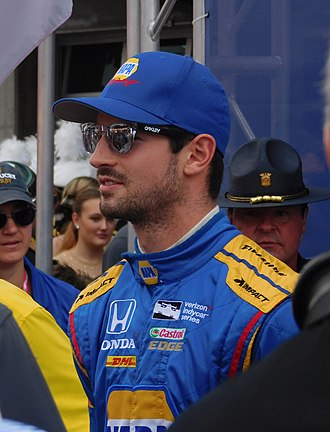 Alexander Rossi - Rossi at the Indianapolis 500 in 2017