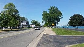 Algonac looking north along St. Clair Drive