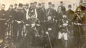 League of Prizren - Picture of Ali Pasha of Gusinje (sitting, first from the left) with Haxhi Zeka (sitting in the middle) and some other members of Prizren League