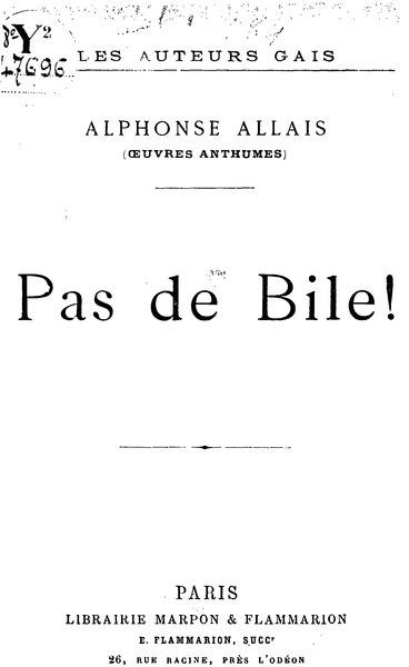 File:Allais - Pas de bile.djvu