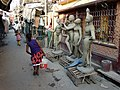 Alley Scene with Plaster Effigies - Kumartuli District - Kolkata - India - 02 (12304183263).jpg