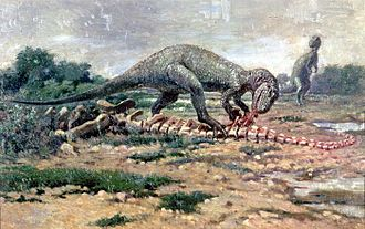 Allosaurus - AMNH 5753 in a Charles R. Knight life restoration