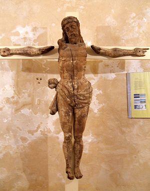 English: Crucifijo en la iglesia de San Miguel...