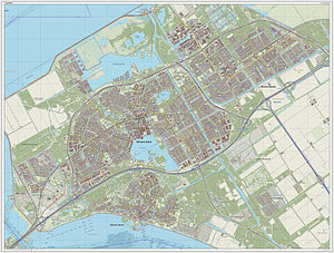 Almere - Topographic map of Almere, Sept. 2014