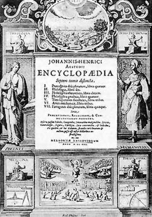 Encyclopaedia Cursus Philosophici - Frontispiece to the Encyclopaedia of Johann Heinrich Alsted (Herborn 1630)