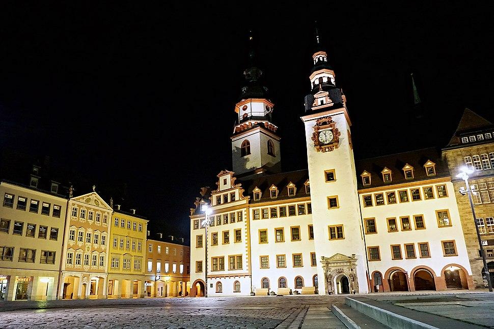 Altes Rathaus und Siegertsches Haus am Marktplatz in Chemnitz, 2015