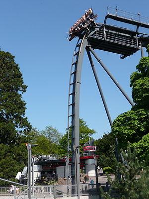 Oblivion (roller coaster) - Oblivion's 'vertical drop'