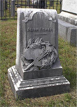 Alvan Fisher - Fisher's headstone in Dedham Village Cemetery