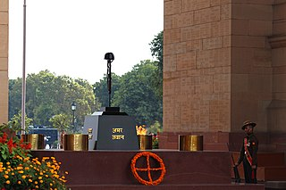 Amar Jawan Jyoti The flame of the immortal soldier