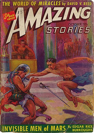 Sword and planet - Cover of Amazing Stories, October 1941