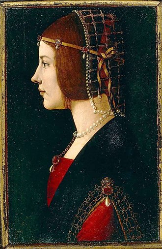 Beatrice d'Este - Image: Ambrogio de Predis Ritratto di una dama