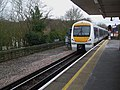 Amersham station northbound through platform look north with unit 168109.JPG
