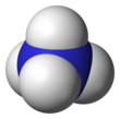 Space-filling model of the ammonium cation