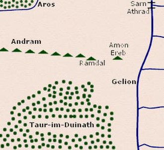 Minor places in Beleriand - Location of Amon Ereb