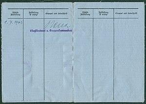 Amtsdokument Paul Fischer 1941 Oberstleutnant Luftwaffen-Beobachterschein Land Nr. 2 Seite 2 und 3 Lager-Nr. 500 Verlag und Druck Heß Braunschweig-München.jpg
