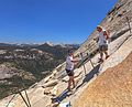 An 18 hour climb of Half Dome - by a trail around the backside.very hot, not enough water (3 H2O bottles), left in the dark, got back to the car at 10 pm, in the dark - a long day - (26km-1600m climb) (28143426523).jpg