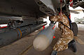 An ALARM missile is loaded onto a Tornado. Kuwait. 21-03-2003 MOD 45142839.jpg