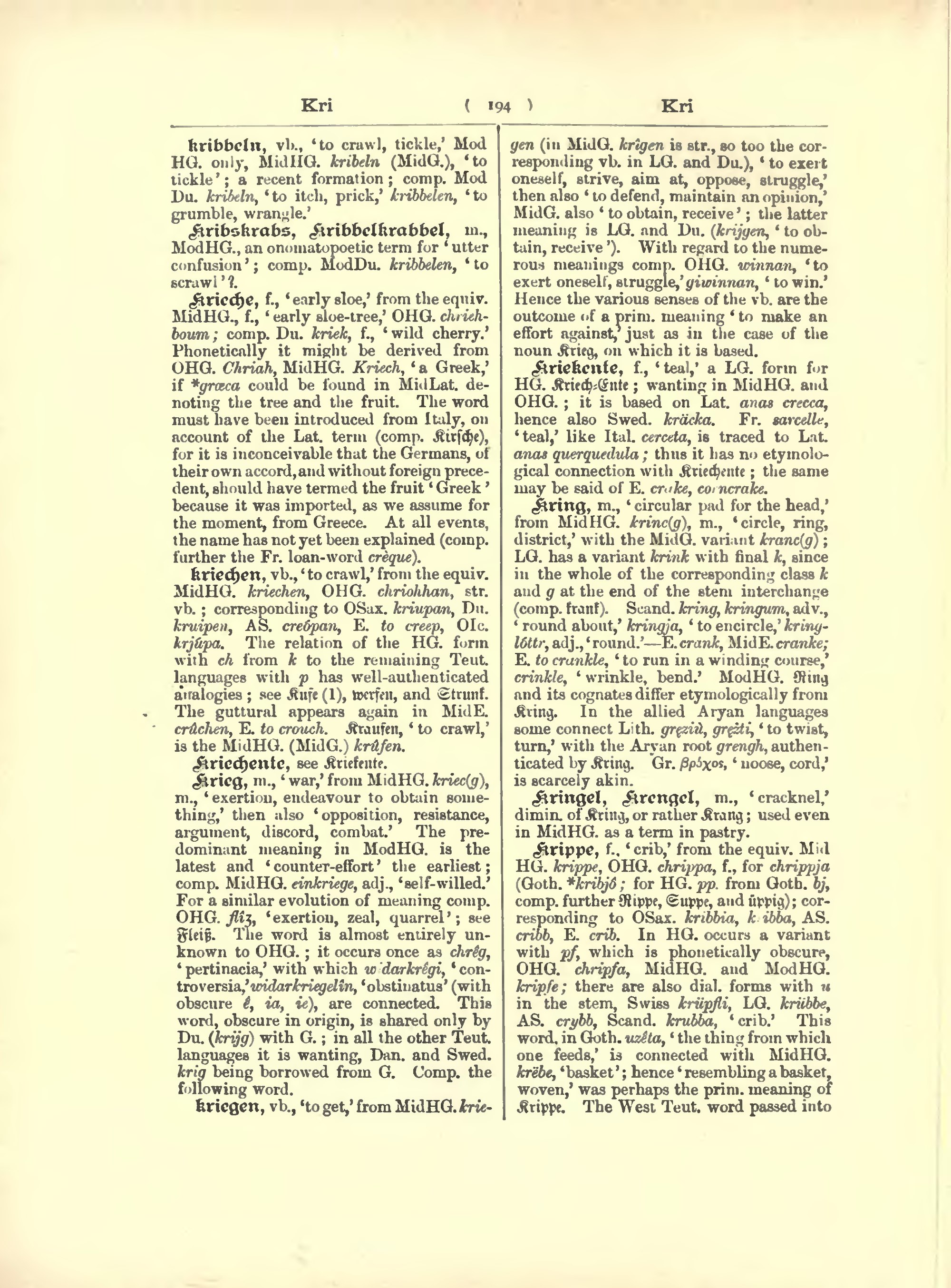 Pagean Etymological Dictionary Of The German Languagedjvu216