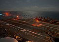 An FA-18 Super Hornet lands on USS John C Stennis' (CVN 74) during flight operations (27142324644).jpg
