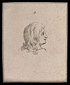 An ideal human head looking at something distant. Drawing, c Wellcome V0009219ETC.jpg