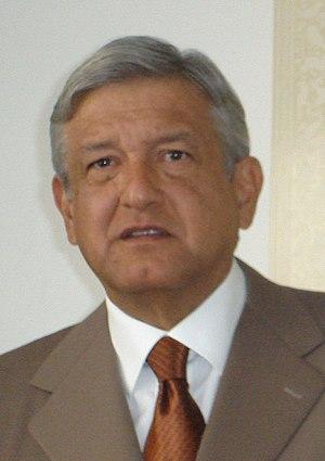 Mexican general election, 2006 - Image: Andrés Manuel López Obrador en 2008 cropped (cropped)