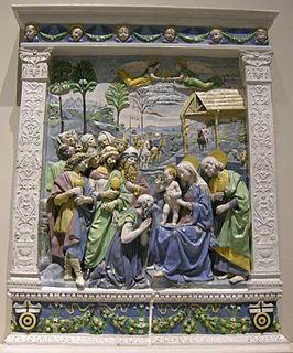 <i>Adoration of the Magi</i> (Andrea della Robbia) Terracotta relief