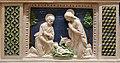 Andrea della robbia, pala di fontecastello con dio padre e angeli, 05 natività.jpg