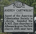 Andrew Cartwright A.M.E. Zion Minsionary American Colonization Society.jpg