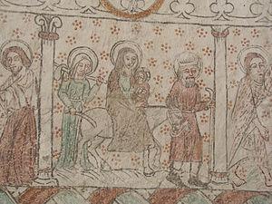 Anga Church, Gotland - Image: Anga kyrka Mural painting 01