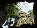 Angkor - Ta Prohm - 012 Tower (8580839835).jpg