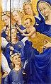 Anonimo inglese o francese, dittico wilton, 1395-99 ca. 06 madonna col bambino e 11 angeli 2.jpg