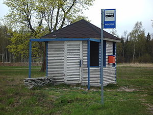 Anseküla - Image: Anseküla bussipeatus