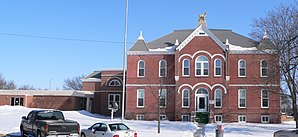 Das Antelope County Courthouse in Neligh, gelistet im NRHP Nr. 80002438[1]
