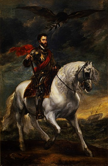 Anthony van Dyck- Portrait of Charles V on Horseback