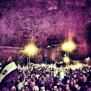 Anti-government civil revolution in Egypt