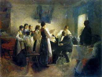 Anton Ažbe - The Village Choir, around 1900