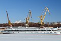 Anton Chekhov in Winter at Moscow North River Port Port View 10-feb-2015 02.jpg
