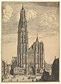 Antwerp Cathedral (Prospectvs Tvrris Ecclesiæ Cathedralis) MET DP824097.jpg