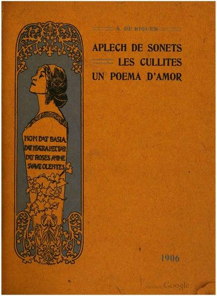 File:Aplech de sonets. Les cullites. Un poema d'amor (1906).djvu