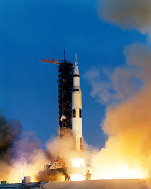 Apollo 13 - Apollo 13 launches from Kennedy Space Center, April 11, 1970